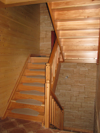 Brunarica: stopnišče