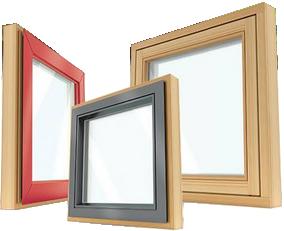 Okna iz lesa