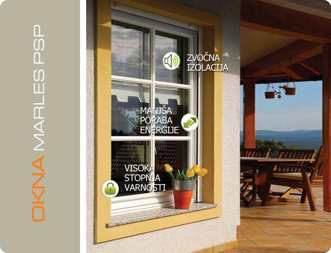 Lastnosti oken Marles